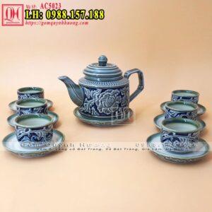 Bộ tách trà gốm sứ Bát Tràng