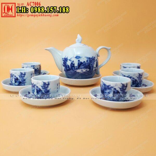 Ấm trà men rong cổ - Bộ cốc chén uống trà đẹp