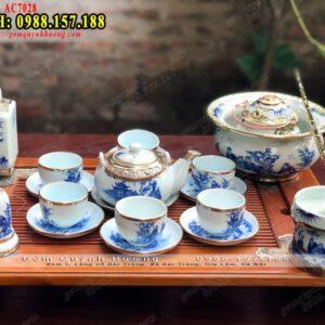 Mua bộ ấm chén uống trà đẹp bọc đồng