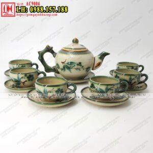 Bộ ấm trà Bát Tràng mã AC9004