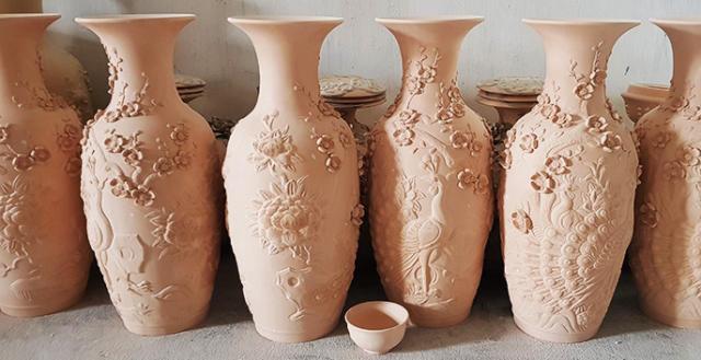 Quy trình sản xuất đồ gốm men rạn nung lần 1