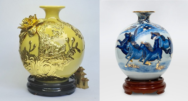 Phân biệt gốm sứ vẽ vàng và gốm sứ dát vàng