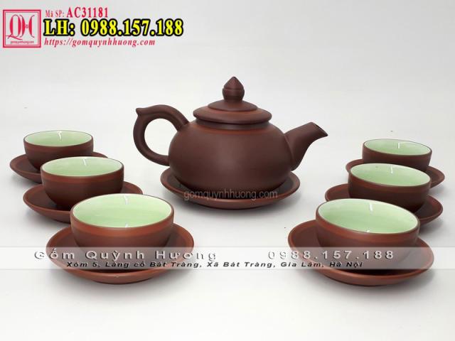 Bộ ấm chén uống trà tử sa Bát Tràng